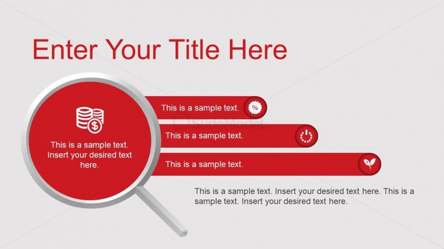 Magnifying Glass Shape PowerPoint for Bullet Points