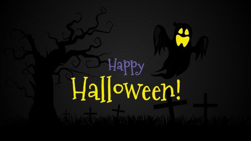 Happy Halloween Slide of Shapes