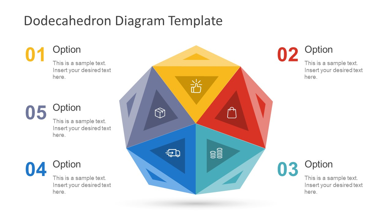 Free Dodecahedron Diagram Template Slidemodel Process Flow Format Circular Pentagon Slide