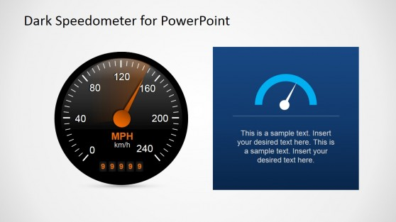 Speedometer free PowerPoint dashboard design for presentations