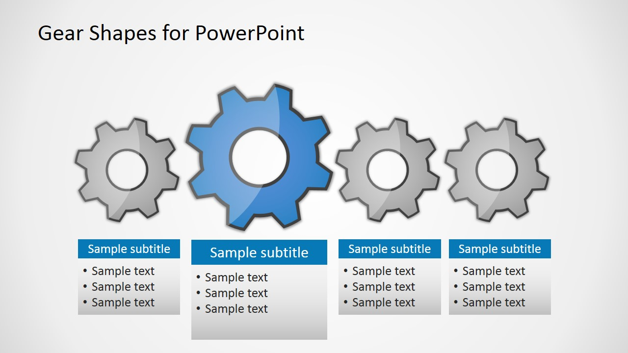 free gear shapes for powerpoint slidemodel
