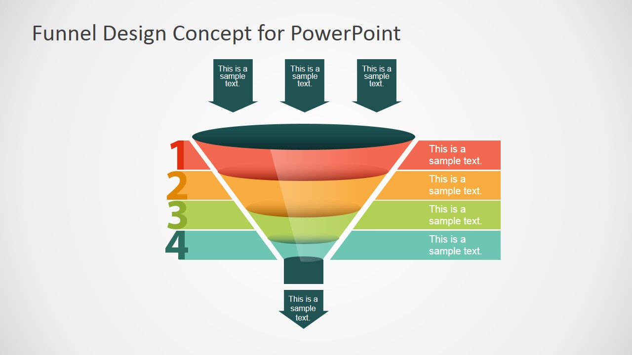 free funnel slide designs for powerpoint - slidemodel, Modern powerpoint
