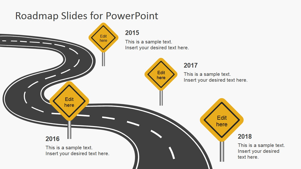 Free Roadmap Slides for PowerPoint SlideModel – Roadmap Template Free