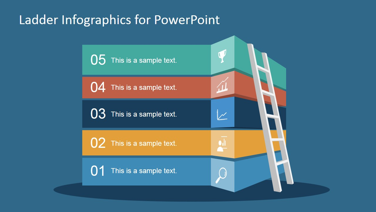 free ladder infographic slide for powerpoint - slidemodel, Modern powerpoint