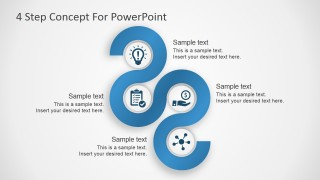 Free PowerPoint Template 4 Steps Concept Diagram