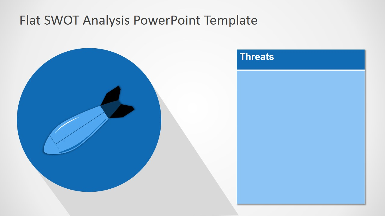 PowerPoint Template SWOT Free Threats Design