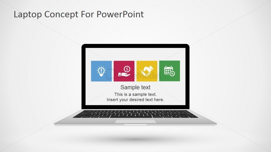 Laptop Diagram for PowerPoint