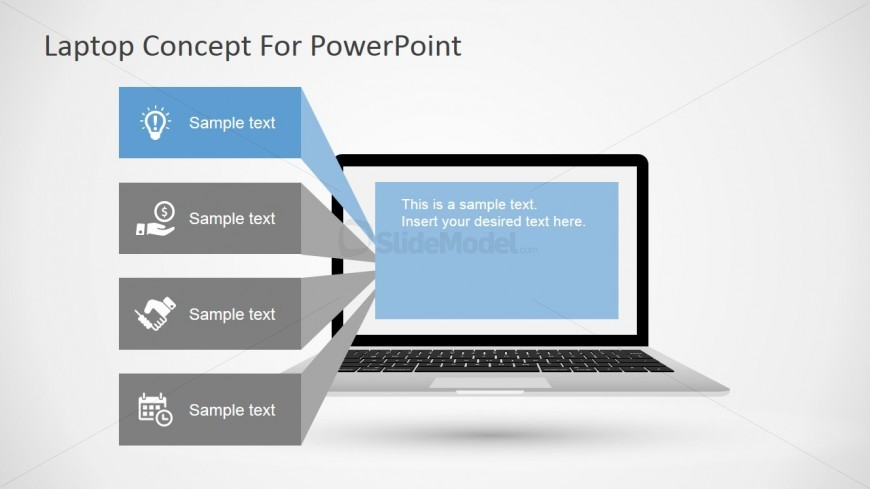 PowerPoint Template with Laptop Design