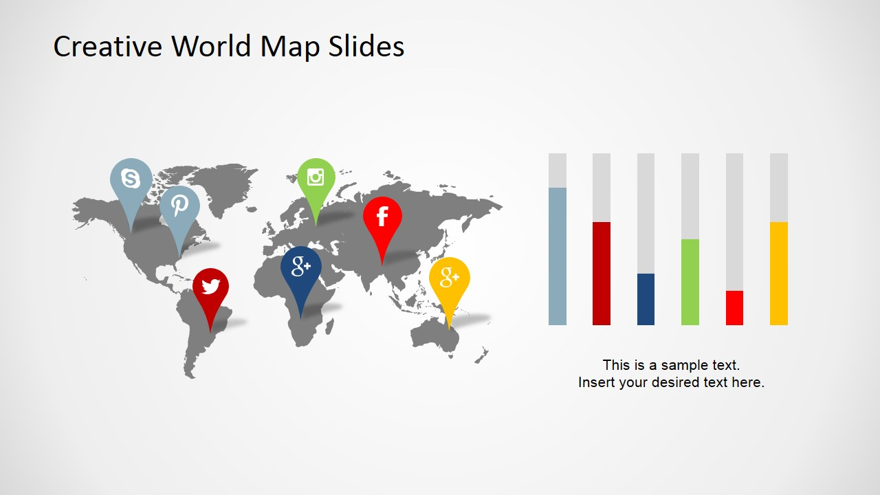free creative world map slides for powerpoint