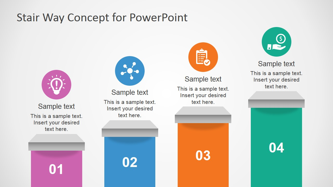 free stair way concept slides for powerpoint