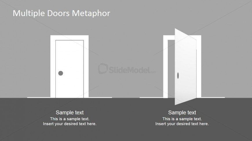 Free Ppt Template Open And Closed Door Clipart Slidemodel