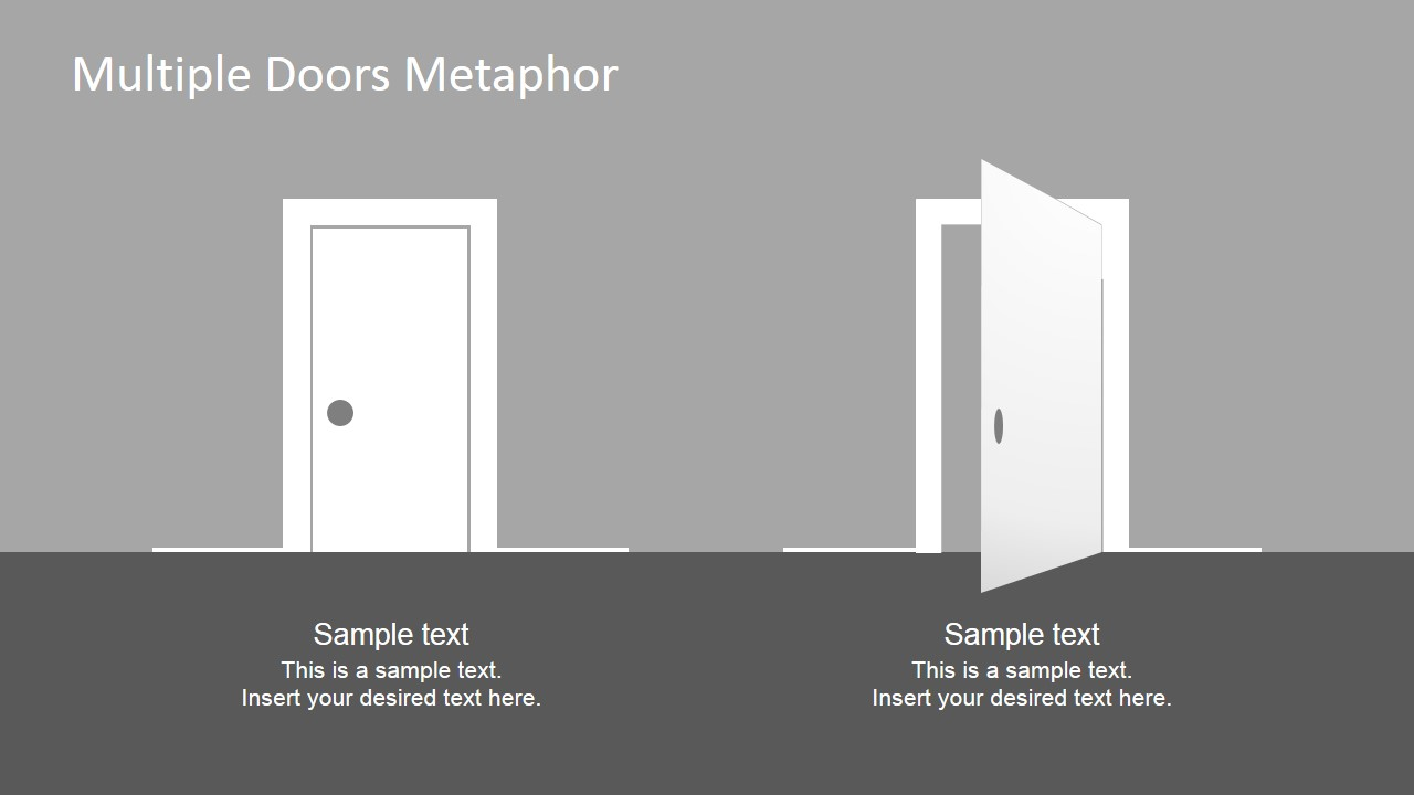 Multiple doors metaphor free powerpoint template slidemodel powerpoint free download door clipart toneelgroepblik Gallery