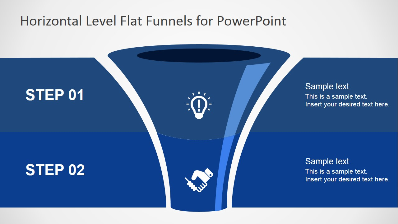 free flat funnel powerpoint template slidemodel
