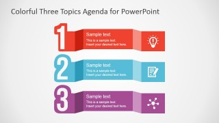 PowerPoint Three Steps Agenda Design