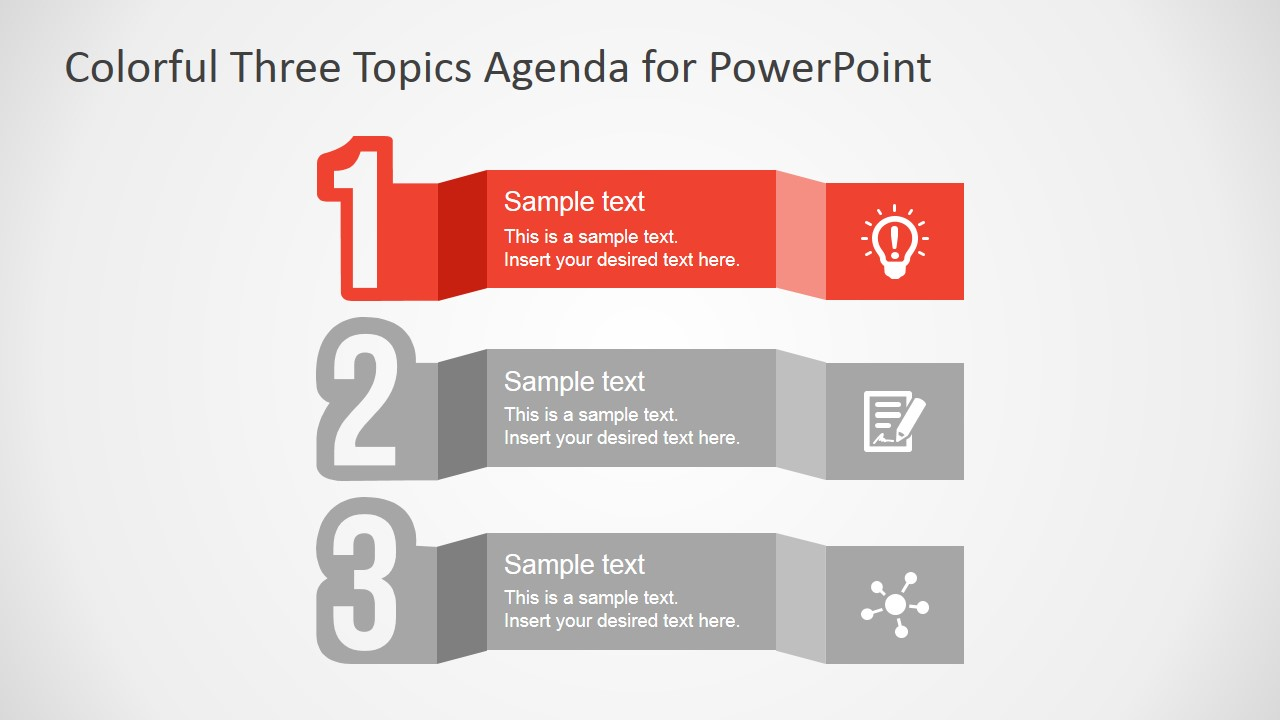 Three Steps Agenda for PowerPoint