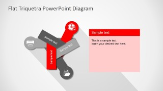 Free PPT Three Steps Flat Diagram