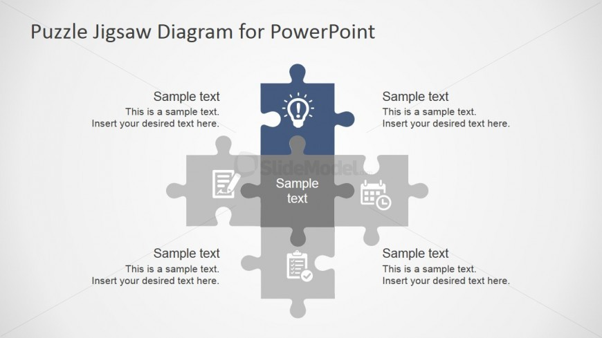 Powerpoint puzzle template slidemodel ppt template jigsaw puzzle pieces toneelgroepblik Choice Image