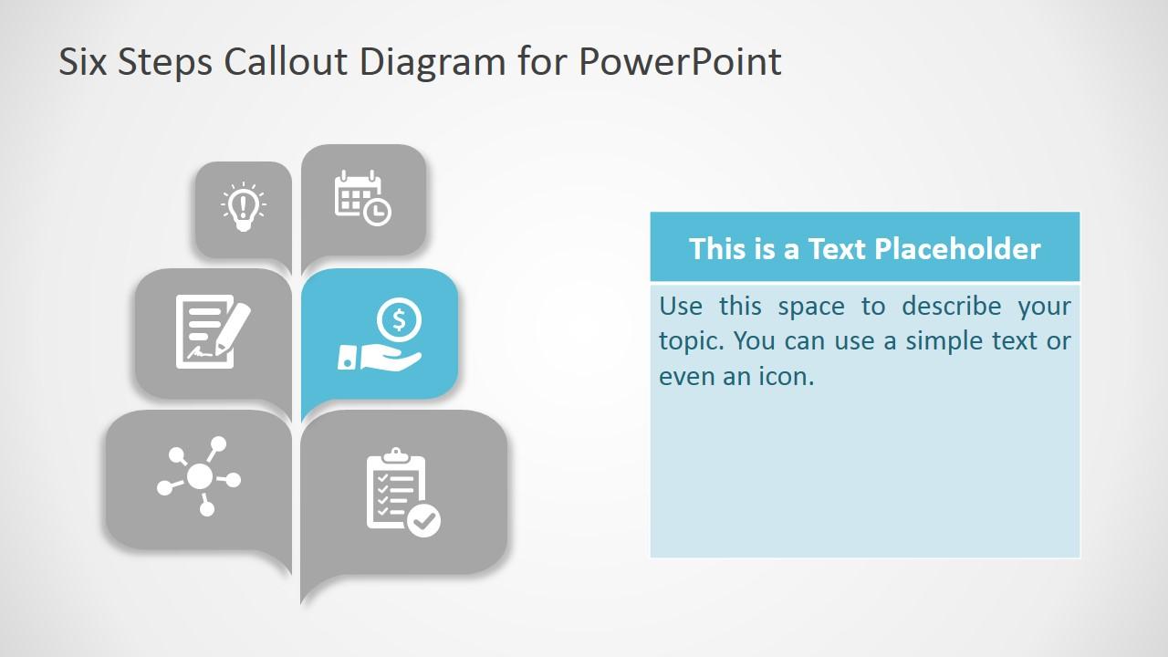 PPT Diagram Free Six Steps