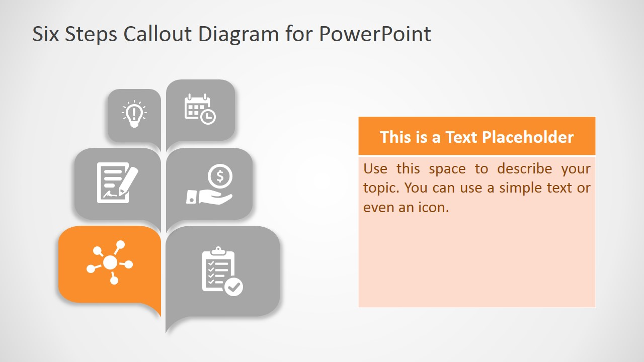 Callout Slide Design Diagram PPT