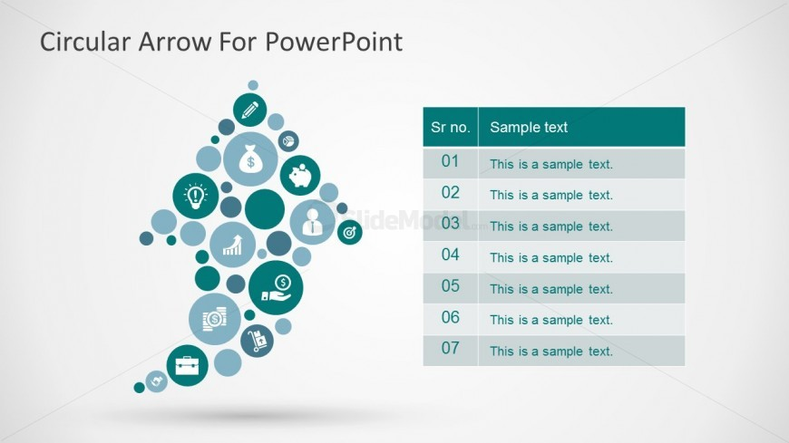 Free 7 Steps Circular Arrow Icons For Powerpoint Templates