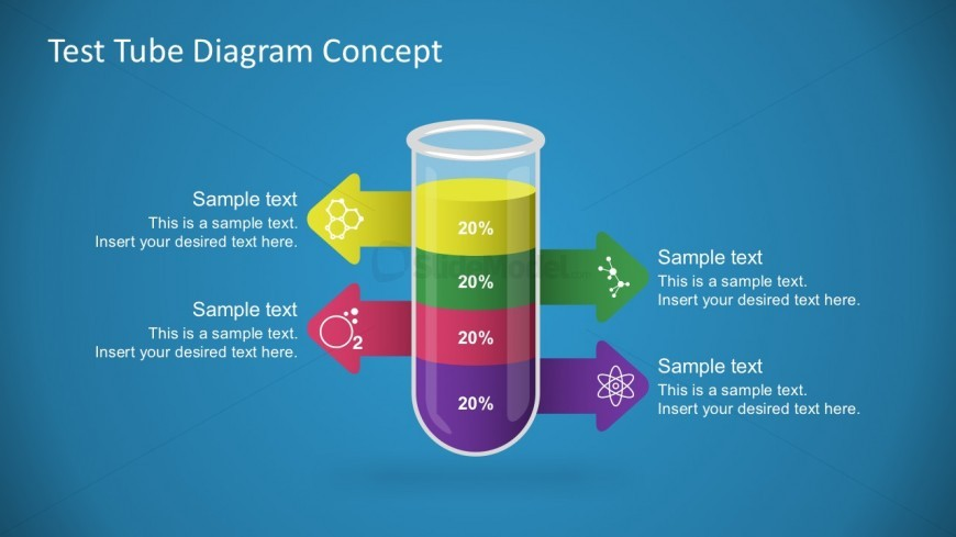 Free Test Tube Diagram For PowerPoint