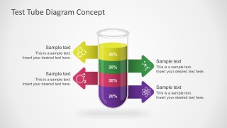Free Test Tube PowerPoint In Colorful Diagram
