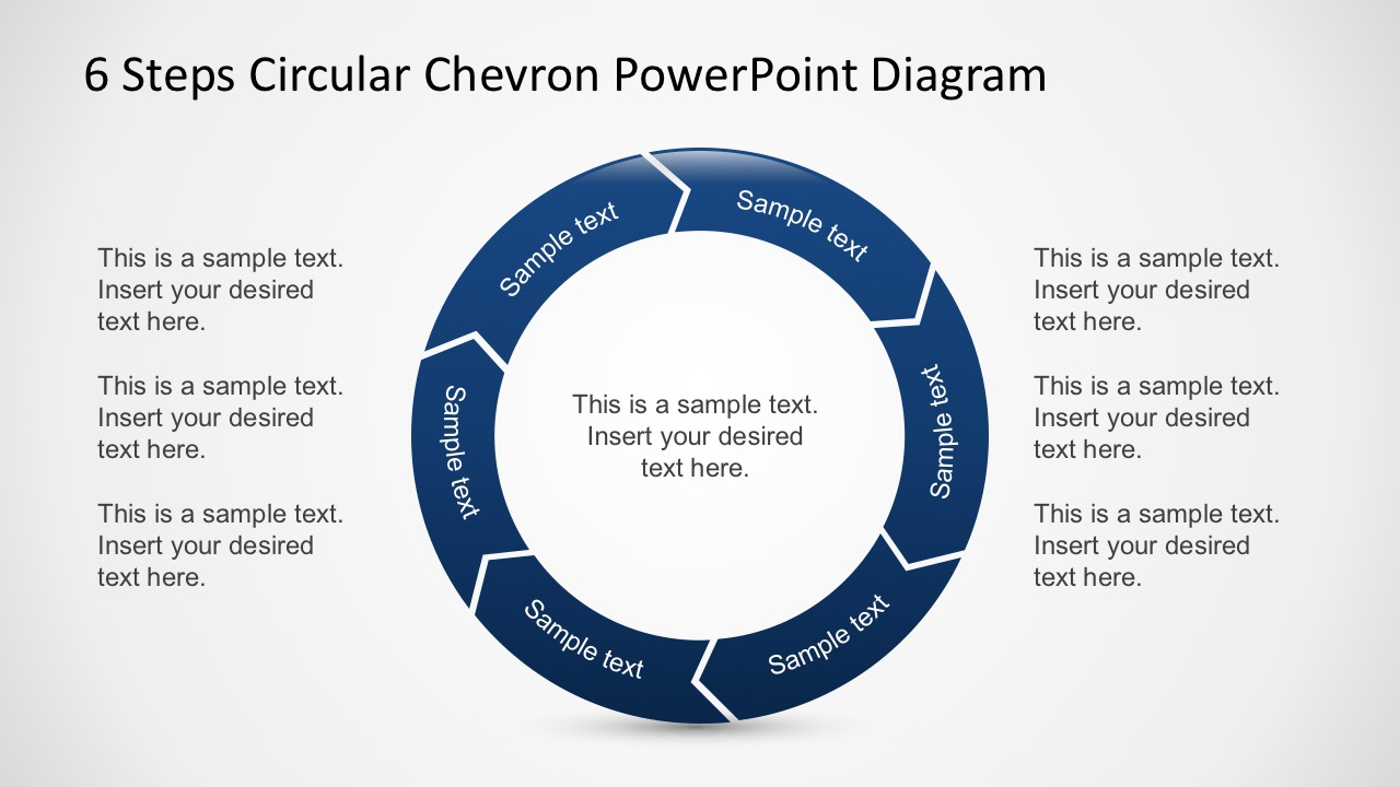 Free 6 Steps Circular Chevron PowerPoint Diagram