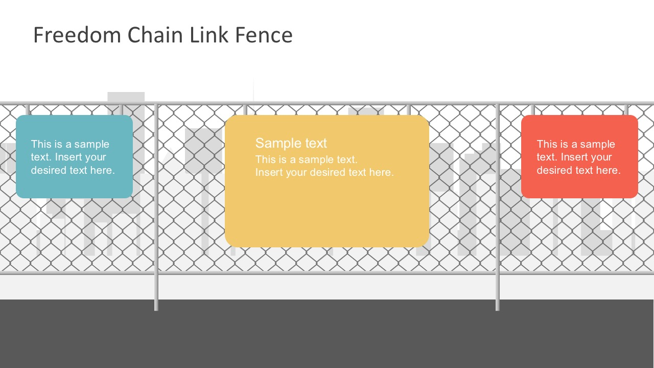 Free Decorative Iron Fence PowerPoint Template