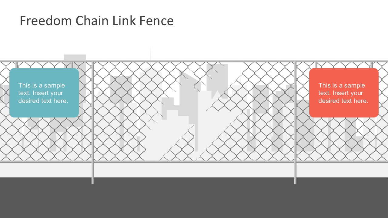 Free Broken Chain Fence Background PowerPoint Templates