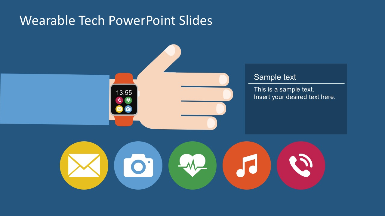 free wearable gadget editable powerpoint shapes - slidemodel