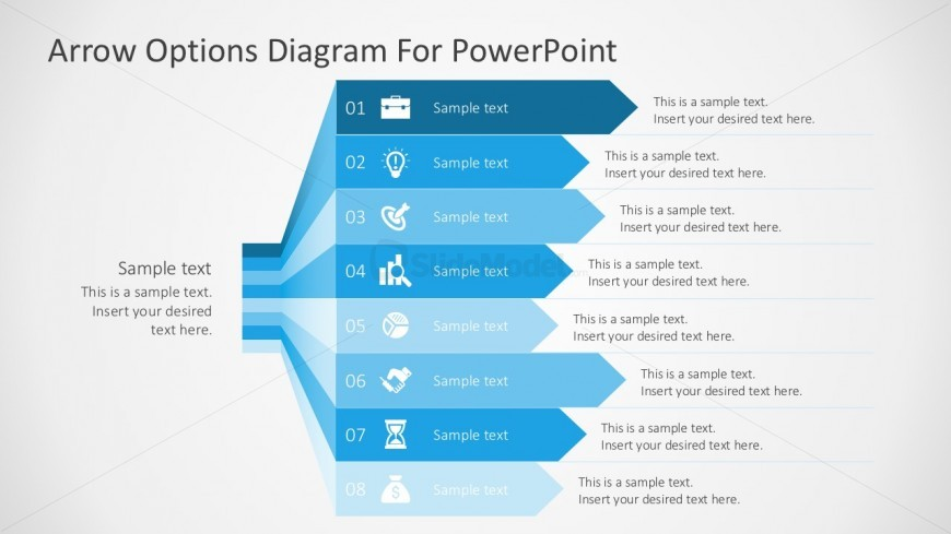 Free Arrow Options Diagram With PowerPoint Icons