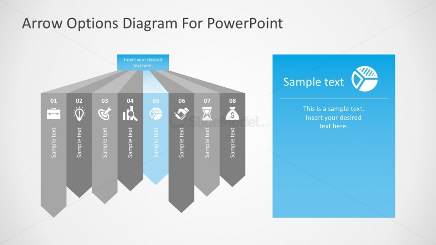 Free Long Arrow Shapes For Process PowerPoint