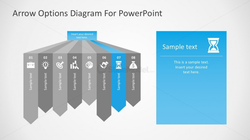 free download sequential process flow template - slidemodel, Modern powerpoint