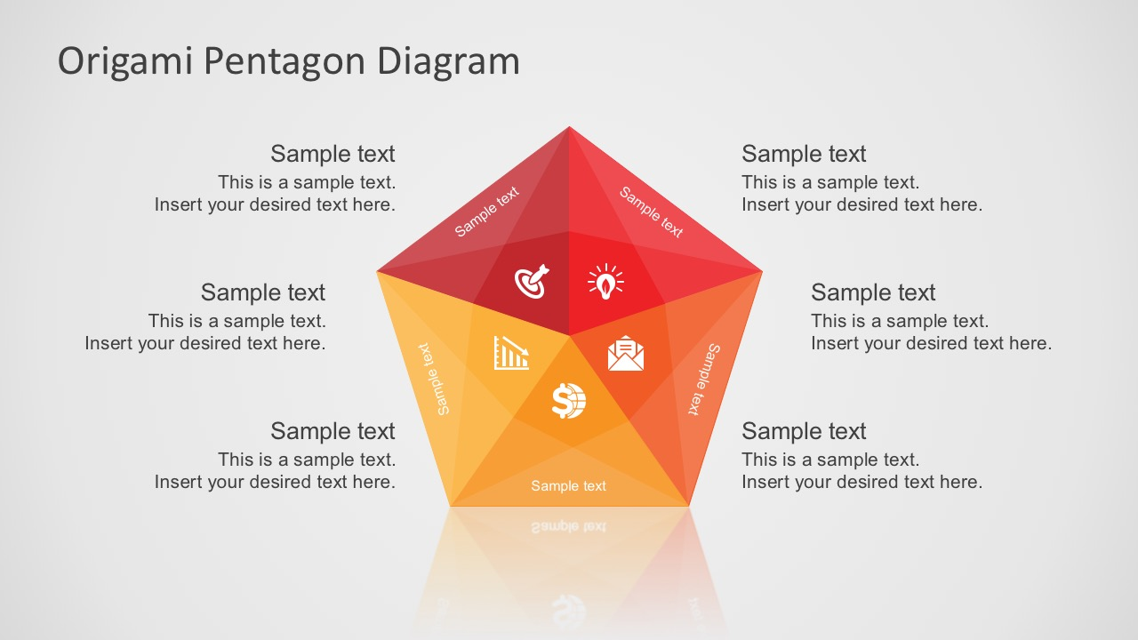 Free Editable 5 Steps Star Diagram For PowerPoint