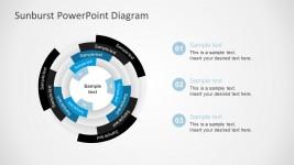 Free Sunburst Diagrams PowerPoint Blue Color