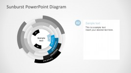 Free Blue Sunburst PowerPoint Template Slides