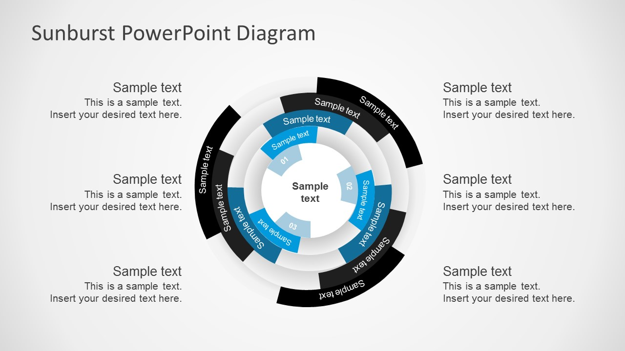 free multilevel sunburst diagram powerpoint templates