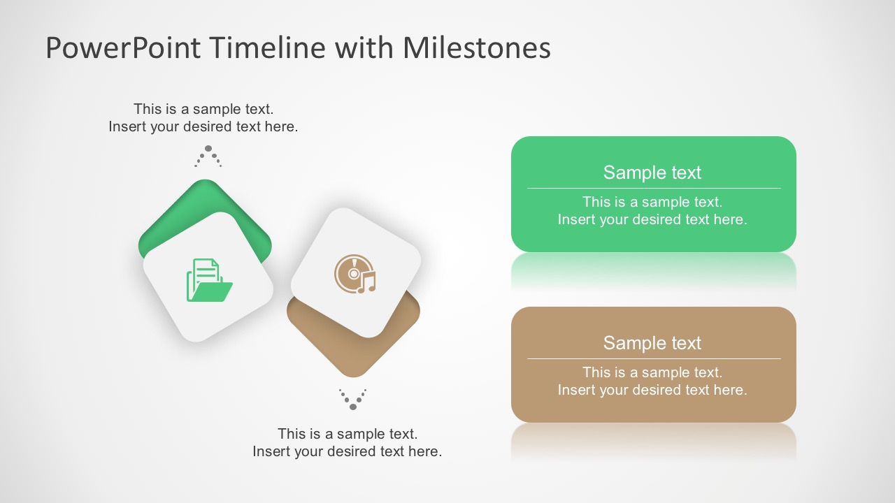 free milestone shapes and timeline powerpoint