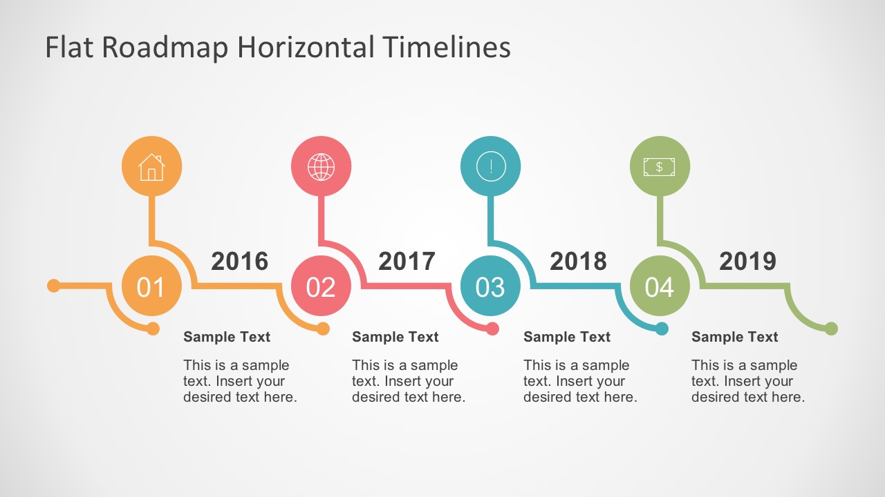 Flat roadmap horizontal timelines for powerpoint free vectors for roadmap horizontal timelines ccuart Gallery