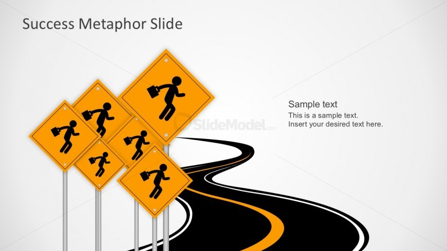 Free Road Signs PowerPoint Template Slides