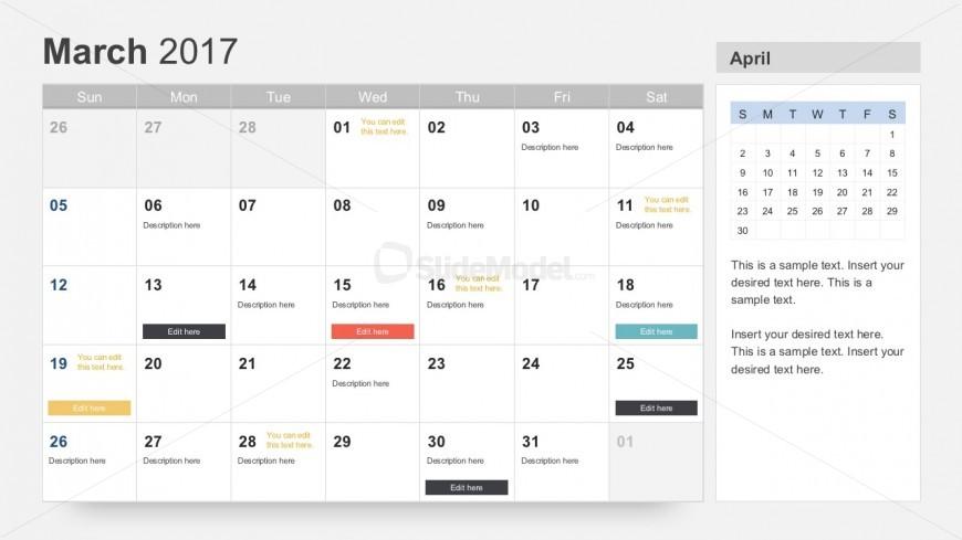 Free Annual Calendar Planner For Powerpoint Slidemodel