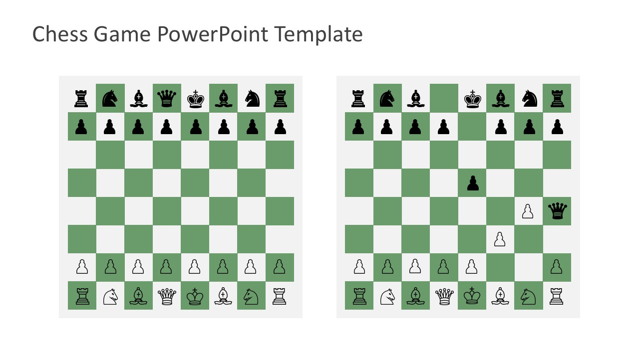 Free Chess Game Editable in PowerPoint