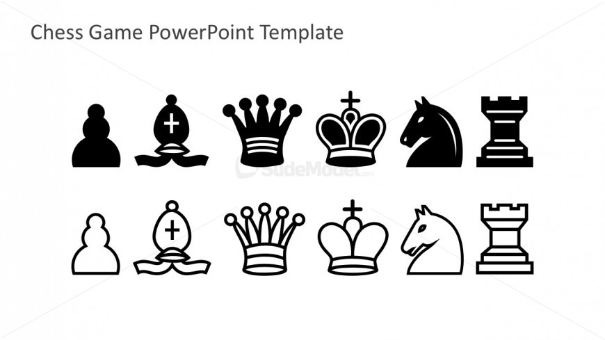 free chess pieces vectors in powerpoint