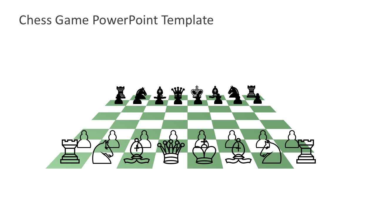 Chess Game PowerPoint Template for Free