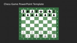 Free Chess Set PowerPoint Dark Background
