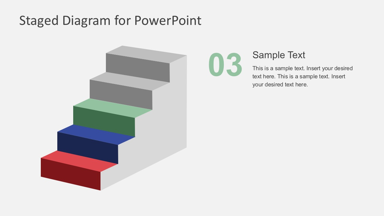 Flat Ladder Process Diagrams PowerPoint
