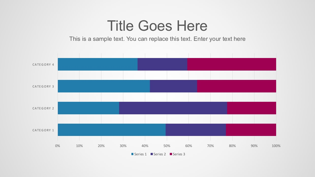 Free Percentage Horizontal Chart PowerPoint Template
