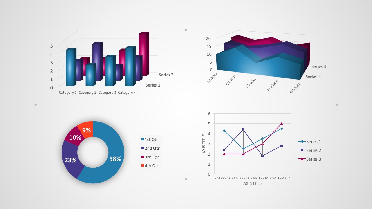 Free Smart Chart Powerpoint Templates Process Flow Diagram Word 2010 Kpi Dashboard For Business Presentation