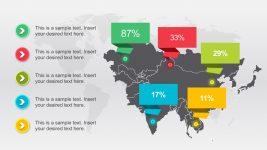 Free Editable World Map Demographic Slides