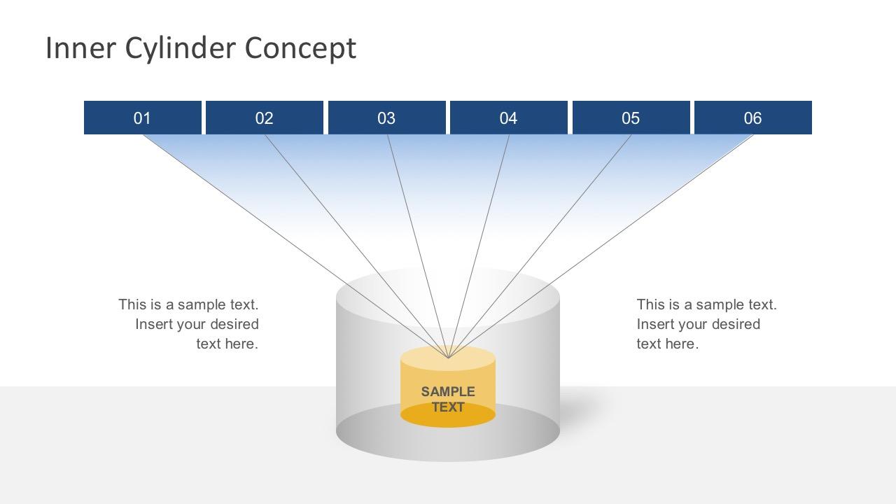 Free 6 Steps Cylinder Diagram Slides